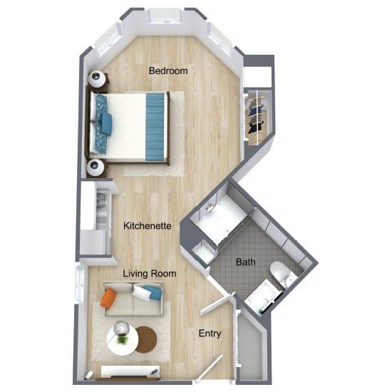 Wickshire Port Orange Assisted Living One Bedroom