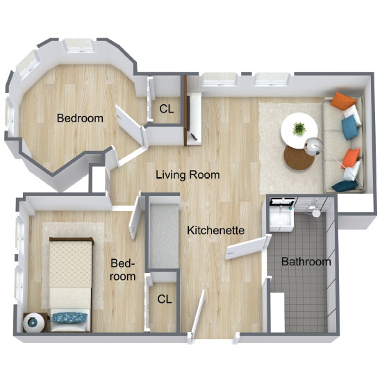 Wickshire Port Orange Assisted Living Two Bedroom Deluxe 1