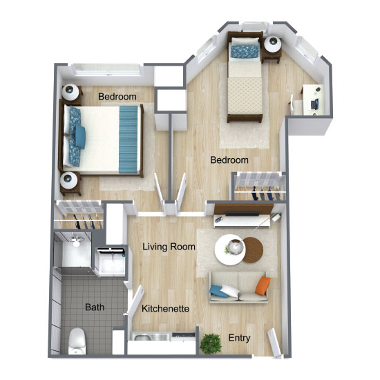 Wickshire Port Orange Assisted Living Two Bedroom Deluxe 2