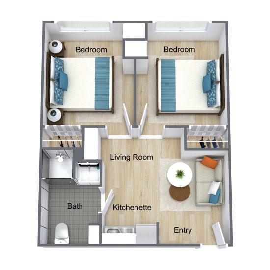 Wickshire Port Orange Assisted Living Two Bedroom