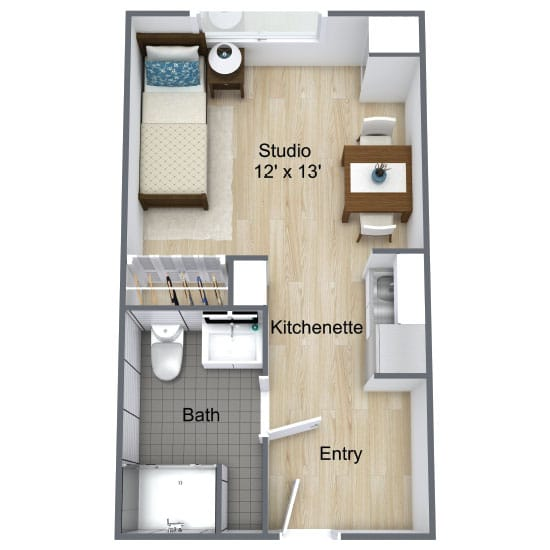 Wickshire Port Orange Assisted Living Deluxe Studio 1