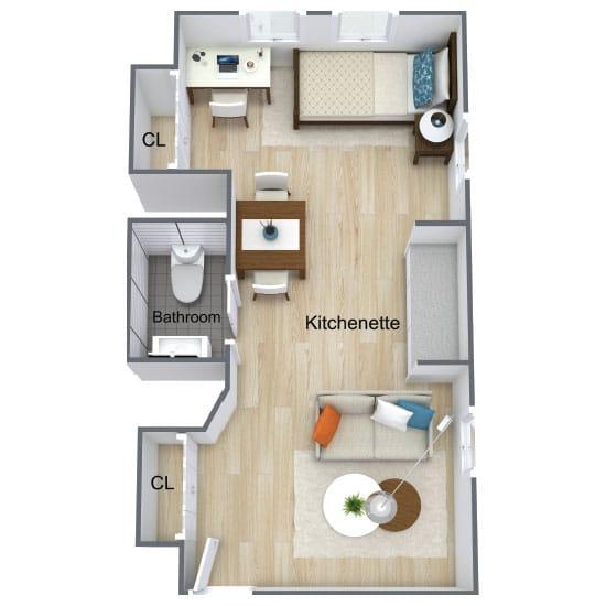 Wickshire Port Orange Assisted Living Deluxe Studio 2