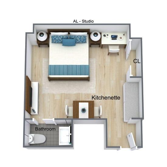 Wickshire Port Orange Assisted Living Studio