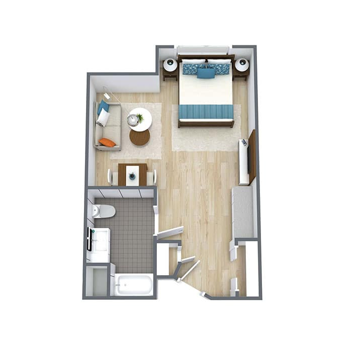 Wickshire Tamarac Assisted Living Studio